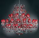Large red chandelier