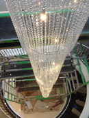 crystal fall chandelier