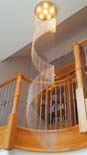 crystal twist stairwell chandelier