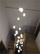 air-bubble chandelier